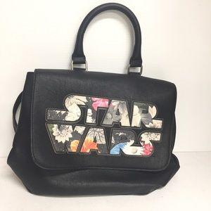 STAR WARS LOUNGEFLY Handbag Purse Black Floral